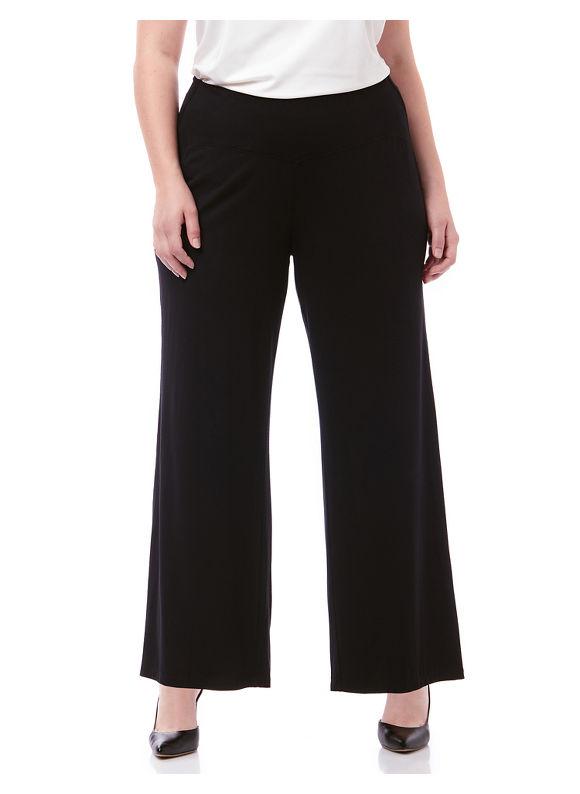 By AnyWear by Catherines Plus Size AnyWear Wide Leg Pant,  Women' Size: 0X,  Black plus size,  plus size fashion plus size appare