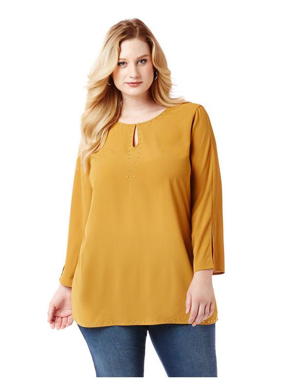 By Black Label by Catherines Plus Size Black Label Lenox Avenue Blouse,  Women' Size: 4  Honey plus size,  plus size fashion plus size appare