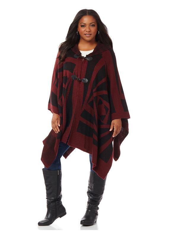 Catherines Plus Size Tribal Wrap,  Women' Vintage Plum plus size,  plus size fashion plus size appare