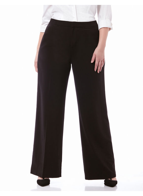 By Catherines Plus Size Right Fit Trouser Pant (Moderately Curvy),  Women' Size: 16WP,  Black plus size,  plus size fashion plus size appare