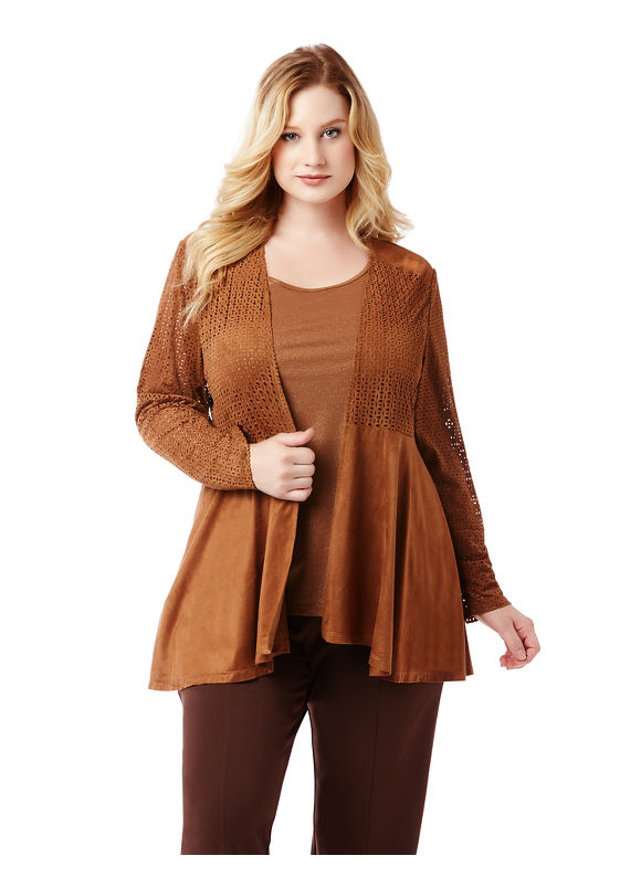 Image of By Catherines Plus Size Cappuccino Jacket, Women's, Size: 5XL, Toffee
