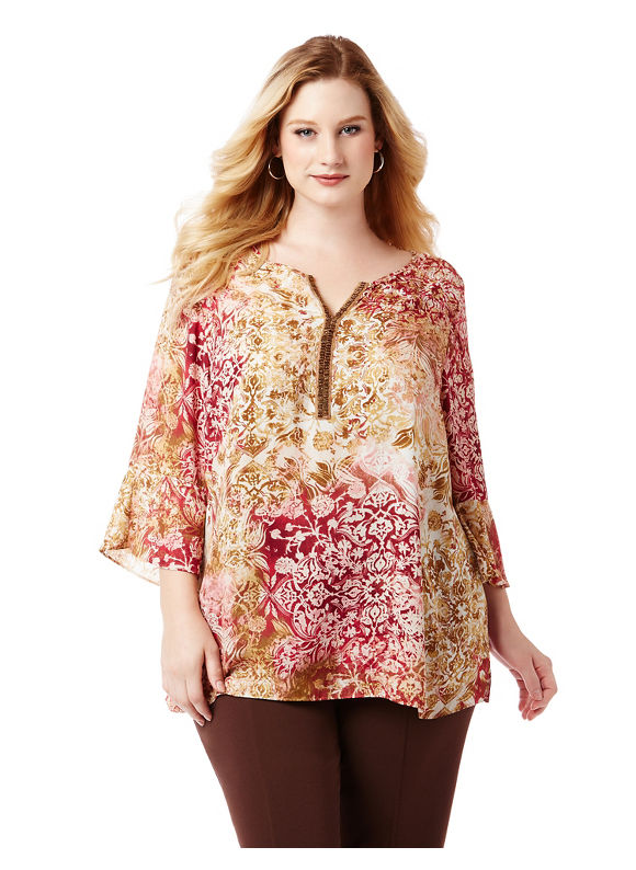 By Catherines Plus Size Canyon Rose Tunic,  Women' Size: 3  Pink plus size,  plus size fashion plus size appare