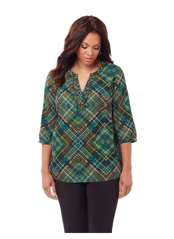 By Catherines Plus Size Cortland Blouse,  Women' Size: 1  Jasper plus size,  plus size fashion plus size appare