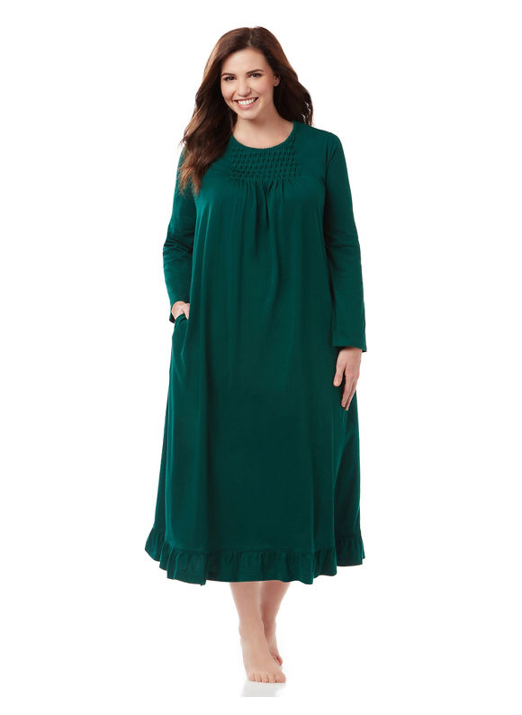 Catherines Intimates Plus Size Timeless Nightgown,  Women' Size: 0X,  Bottle Green plus size,  plus size fashion plus size appare
