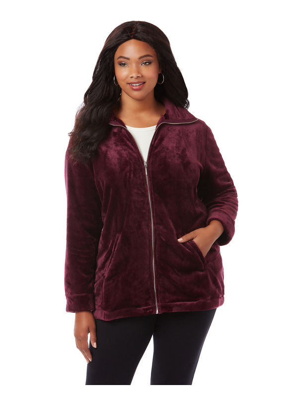 Catherines Plus Size Cozy Layering Jacket,  Women' Size: 1  Vintage Plum plus size,  plus size fashion plus size appare