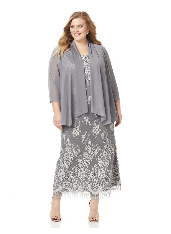 Buy Boardwalk Empire Inspired Dresses Catherines Plus Size Whisper Soft Jacket Dress Womens Size 24W Grey $179.00 AT vintagedancer.com