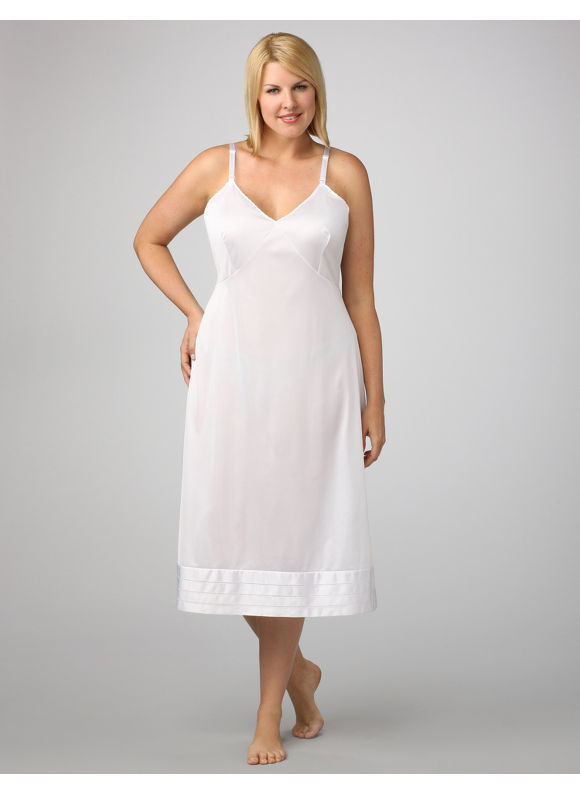 Velrose Plus Size Snip-It Full Slip, Women's, Size: 54, White - Catherines ~ Classic Plus Size Clothes