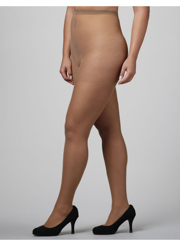 Catherines Plus Size Day Sheer Pantyhose - Women's Tan