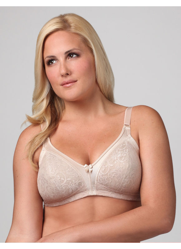Catherines Women's Plus Size/Beige Glamorise 1010 Lace Soft-Cup Bra -
