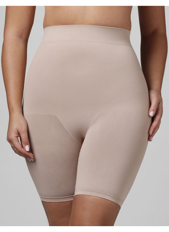 Image of Catherines Plus Size Seamless HiWaist Thigh Shaper  Womens Size 3X4X Nude
