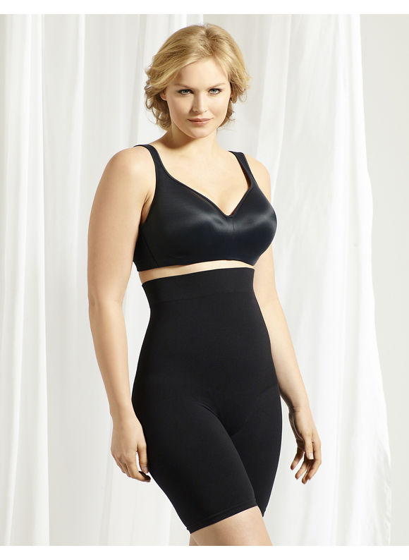Catherines Intimates Plus Size Seamless Hi-Waist Thigh Shaper, Women's, Size: 3X-4X, Black - Catherines ~ Classic Plus Size Clothes