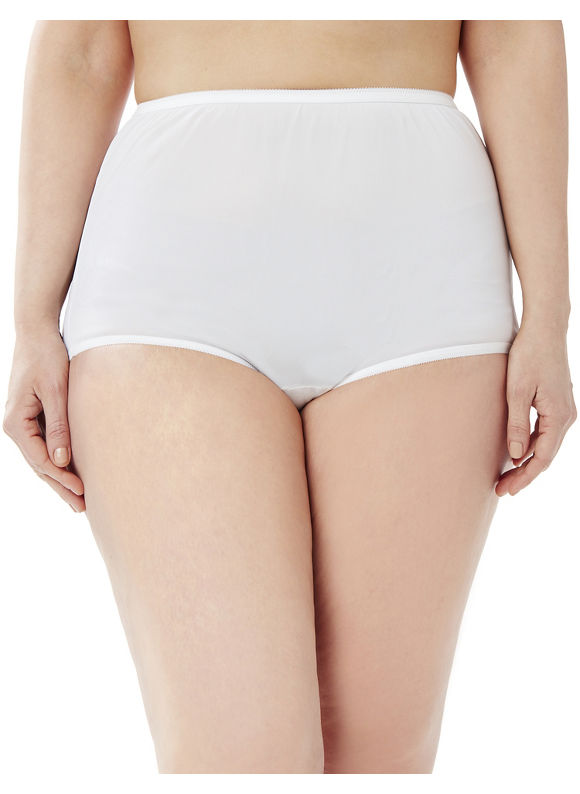 Catherines Intimates Plus Size 3-Pack Nylon Pantie Women' Size: 14,  White plus size,  plus size fashion plus size appare