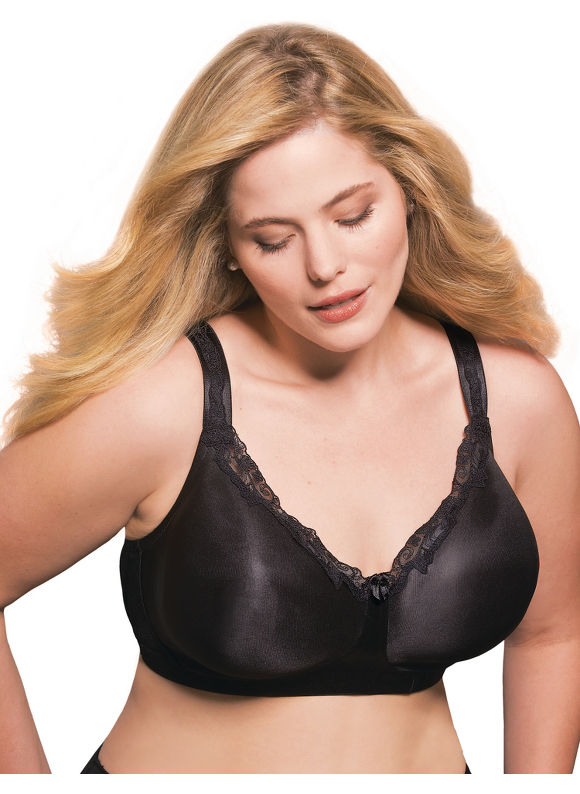 Catherines Women's Plus Size/Black Serenada No-Wire Minimizer Bra -