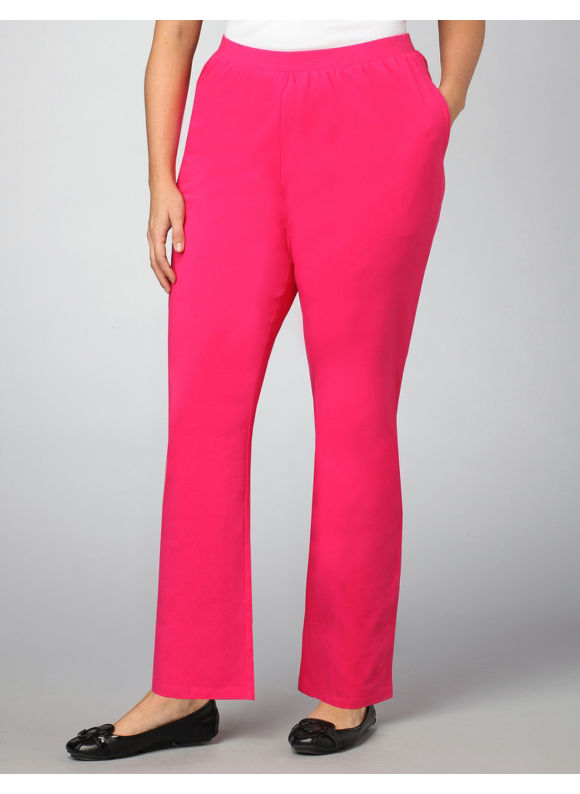 Catherines Women's Plus Size/Fuschia Suprema Essential Knit Pants -