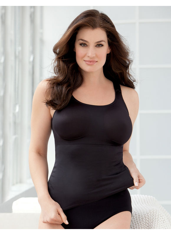 Catherines Plus Size Shaping Cami - black