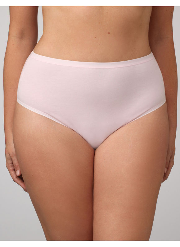 Catherines Women's Plus Size/Rose Bloom Cotton Hi-Cut Panties - Size 9