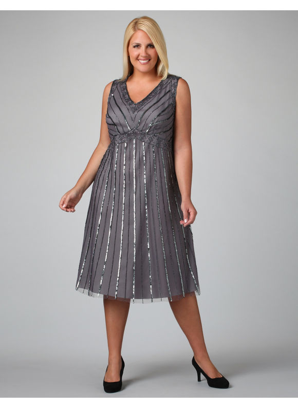 Extended plus size cocktail dresses