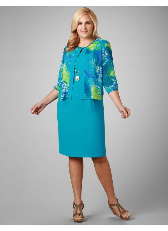 classic, elegant Plus Size Astoria Jacket Dress . Catherines plus size