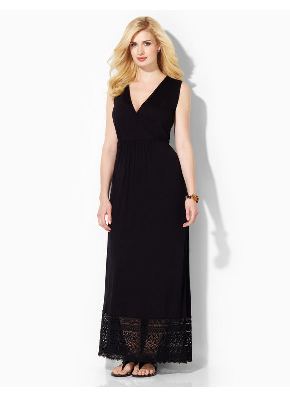 Image of Plus Size Moon Dance Maxi Catherines Womens Size 1X2X3X0X BlackSurf the Web