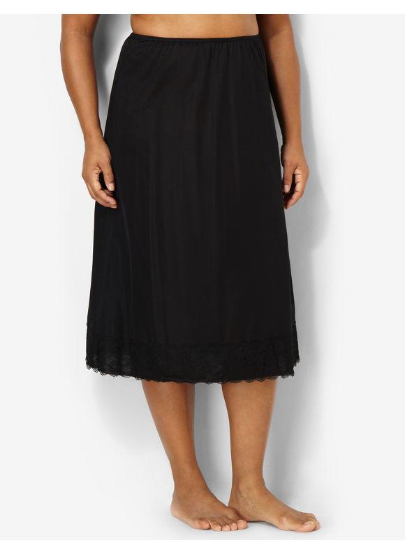 Velrose Plus Size Half Slip, Women's, Size: 1X,2X,3X, Beige, Black - Catherines ~ Classic Plus Size Clothes