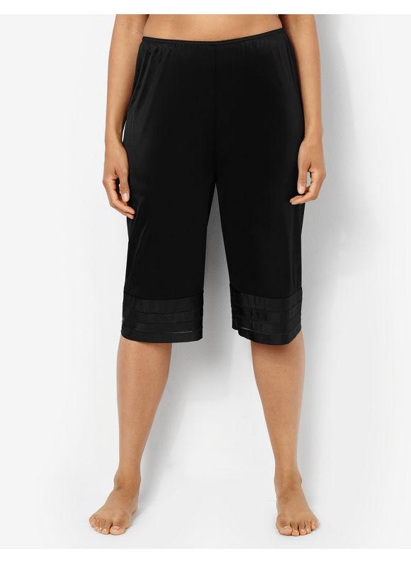 Velrose Plus Size Snip-It Pettipant, Women's, Size: 4X,5X, White, Black - Catherines ~ Classic Plus Size Clothes