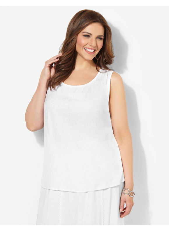 Image of Catherines Plus Size Eternity Tank  Womens Size 3X0X White