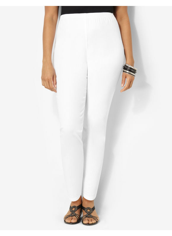 Image of Catherines Plus Size Essential Twill Legging  Womens Size 0X White