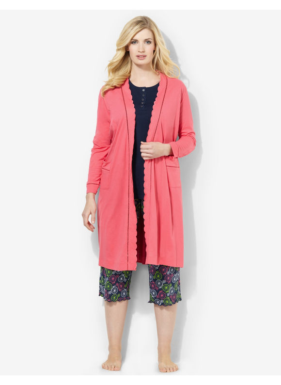 Catherines Plus Size Bright Side Robe - Party Pink