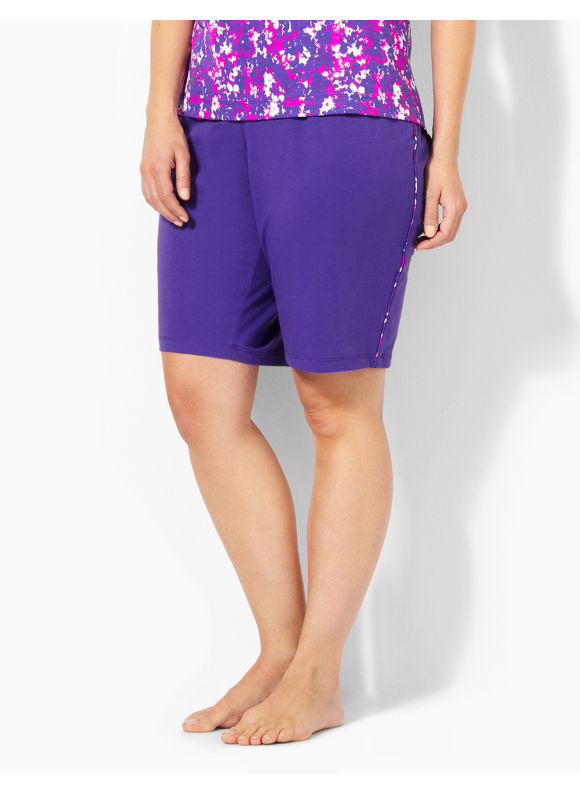 Image of Catherines Plus Size Pretty In Purple Sleep Short  Womens Size 1X2X3X Violet