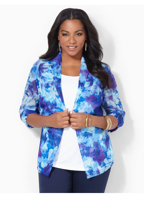 Catherines Plus Size Water Lily Jacket - Surf the Web