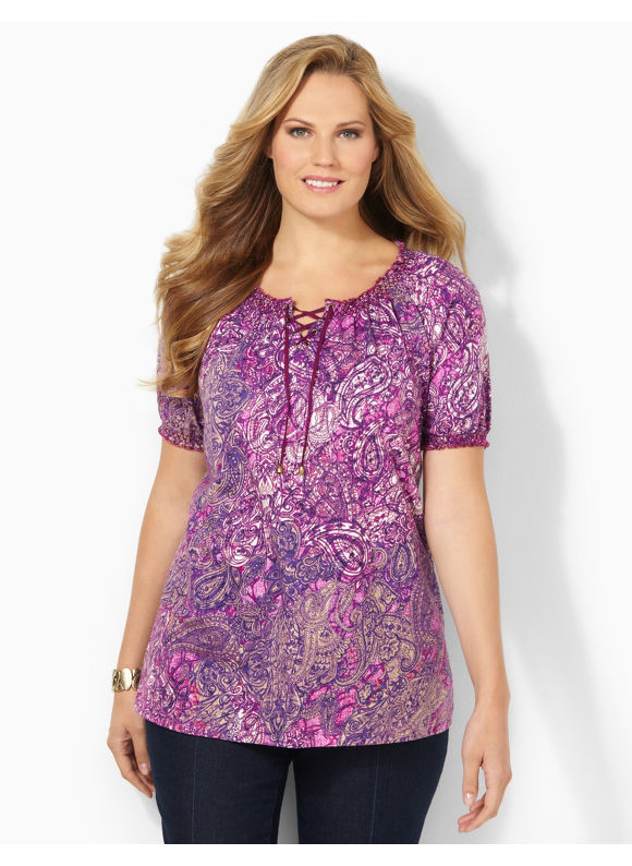 Image of Catherines Plus Size Fantasies Tee  Womens Size 1X2X3X Plumberry