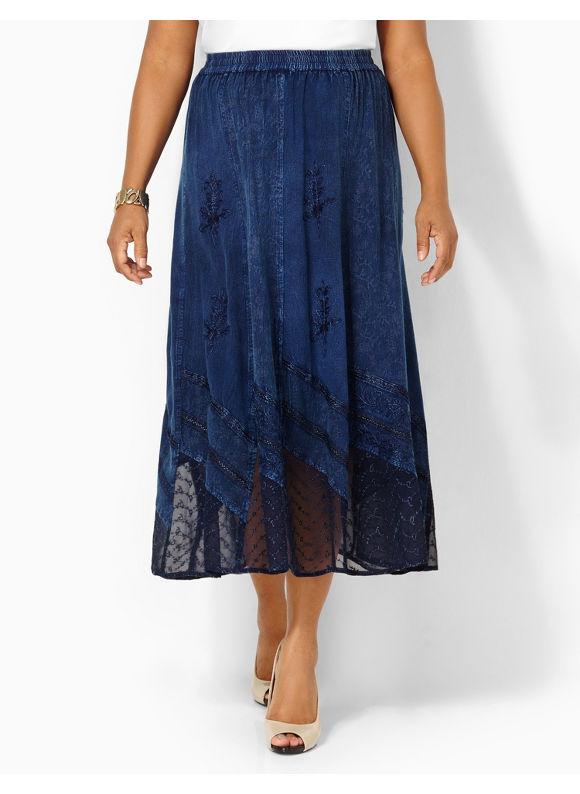 Image of Catherines Plus Size Harmony Skirt  Womens Size 1X2X3X0X Indigo