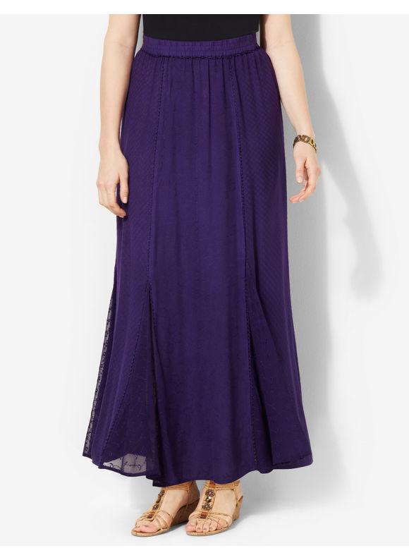 Image of Catherines Plus Size Passion  Romance Skirt  Womens Size 1X3X0X Aubergine