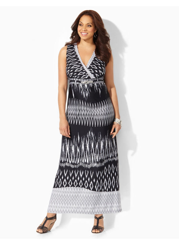Plus Size Watch Hill Maxi Catherines Black