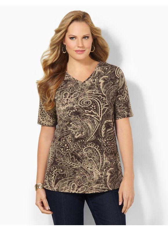 Image of Catherines Plus Size Ancient History Tee  Womens Size 3X0X2X BlackDesert Khaki