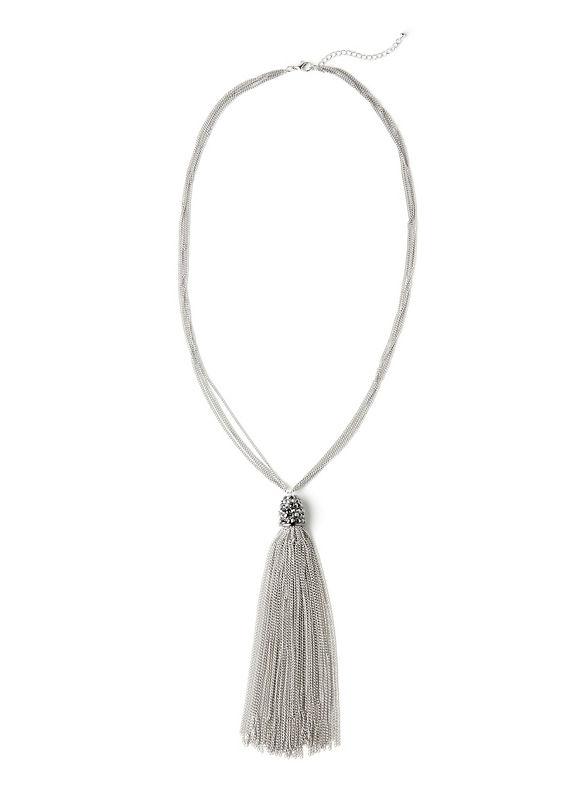 Catherines Women's Dazzle Tassel Necklace