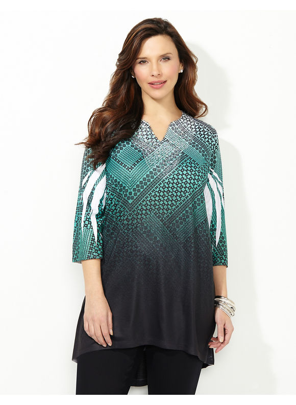 Catherines Plus Size Inclined To Inspire Tunic -  Thyme Green