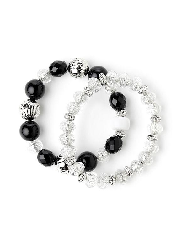 Catherines Women's BlackWhite Daring Duet Bracelet