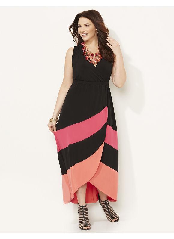 Plus Size Sorbet Maxi, Catherines Women's Size 1X,2X,3X,0X, black