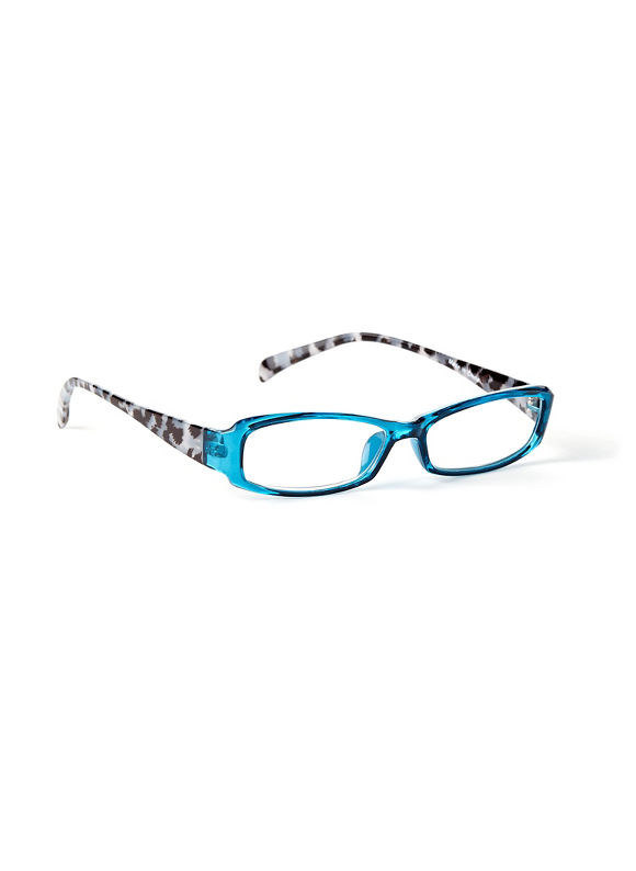Catherines Contrast Reading Glasses, Blue - Catherines ~ Classic Plus Size Clothes