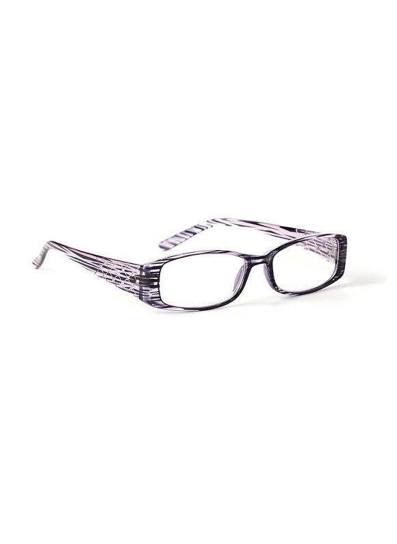 Catherines Quilted Shine Reading Glasses, Purple - Catherines ~ Classic Plus Size Clothes