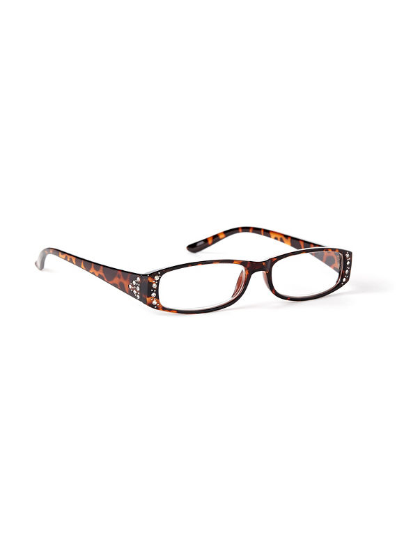 Catherines Lovely Lavish Reading Glasses, Gold - Catherines ~ Classic Plus Size Clothes