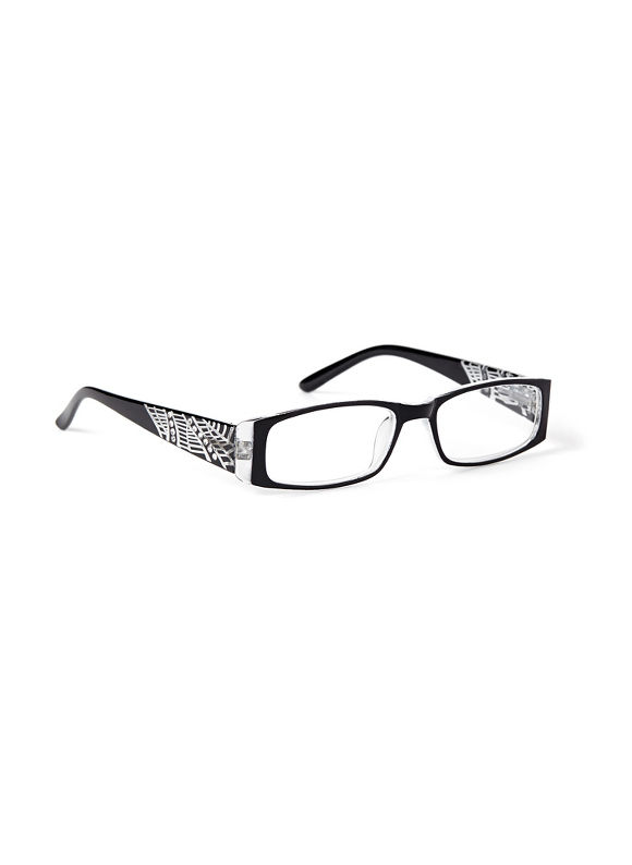 Catherines Web Of Intrigue Reading Glasses, Black - Catherines ~ Classic Plus Size Clothes