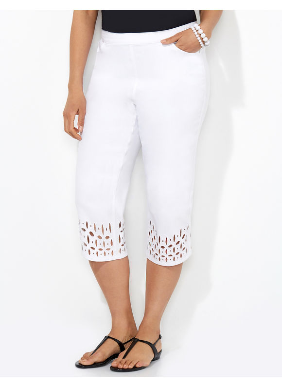 White Plus Size Capris - The Else
