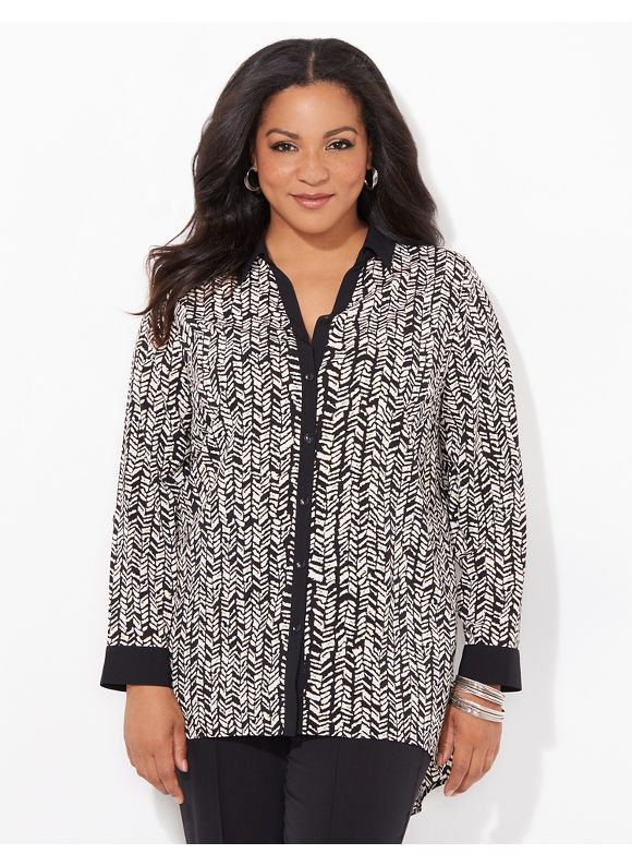 Catherines Plus Size Poised Presence Blouse Womens Size 1x2x3x