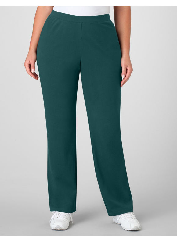 Catherines Women's Plus Size/Deep Teal Suprema Essential Knit Pants -