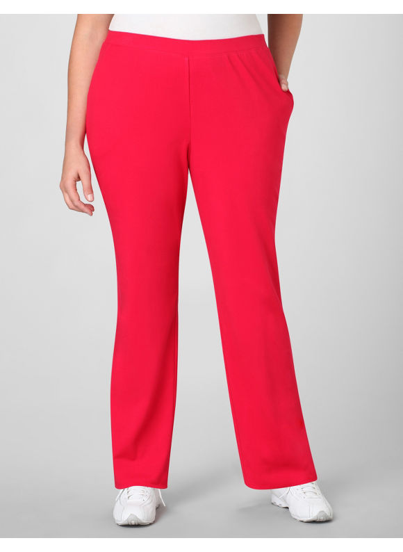 Catherines Women's Plus Size/Red Suprema Essential Knit Pants - Size