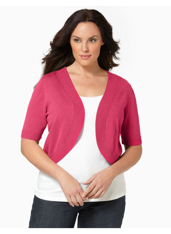 Catherines Women's Plus Size/Dynamo Infinite Options Shrug