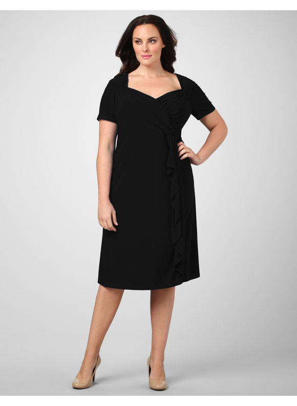 Catherines Women's Plus Size/Black Nightlife Splendor Dress - Size 24W
