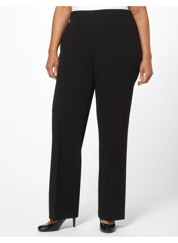 Catherines Plus Size Refined Pant,  Black